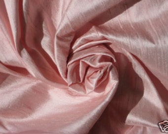 "Baby Pink 100% dupioni silk fabric yardage By the Yard 45"" wide"