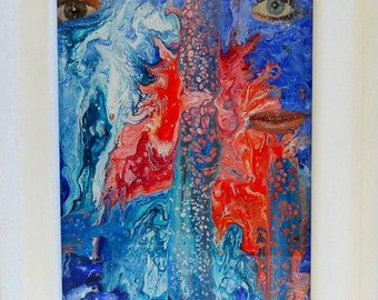 Duality Of Man is made by AjAspinall AbstractArt created on canvas one-off original unique painting signed Certificate of Authenticity
