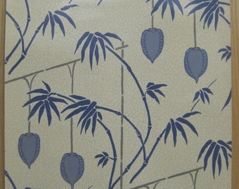 Antique Beautiful 19th C. French Exotic Zuber Wallpaper (9373)