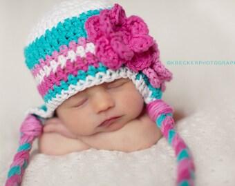 girls hat,  Hat for girls, newborn girl hat, girls winter hat, girls hat, crochet girls hat, little girls hat, baby girl winter hat, girls