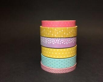 Polka Dots Washi Tape Sample #3, Polka Dots MT Sample #3