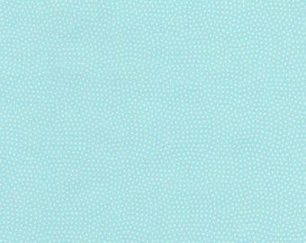 1/2 Yard Timeless Treasures Spin Basics C 5300 in Aqua