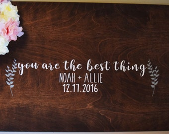 "A ""You are the Best Thing"" Guestbook, Rustic Guest book, Wedding Guestbook, Wedding Guest Book Guest Book Alternative, Guestbook Alternative"
