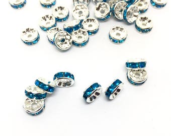 50 Rodelle Spacer, turquoise, 8 mm
