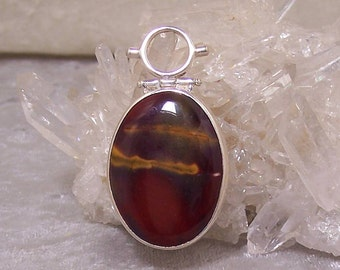 MOUKAITE Oval I - Hinged Bead Frame Centerpiece in Stone and  Sterling Silver
