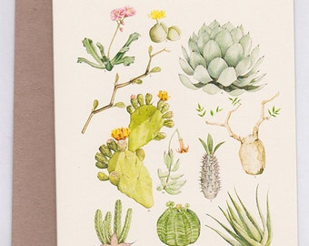 Succulent Families Greeting Card