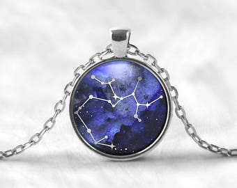 Sagittarius Constellation Pendant Necklace   Sagittarius Necklace Constellation Jewelry Galaxy Necklace Zodiac Necklace Star Space Astrology