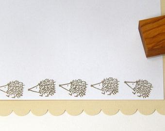 Quirky Hedgehog Olive Wood Stamp