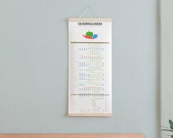 Set / season calendar + poster bar Maple A3