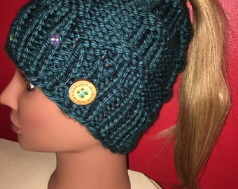 Crystal Messy Bun Hat