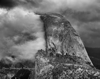 Half Dome durring a storm