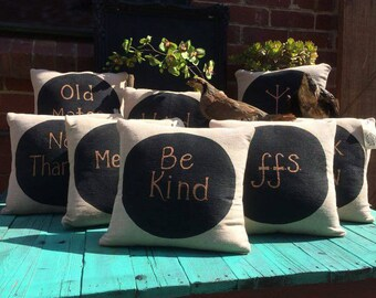 Handpainted Organic Cotton Jute Cushions, Meditation Cushion