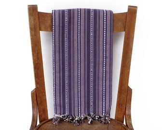 Bath Towel Beach Wrap Turkish Fouta Towel Sarong Throw Handwoven Cotton Turkish Beach Towel Spa Yoga Hammam Towel Purple DAMASC PESHTEMAL