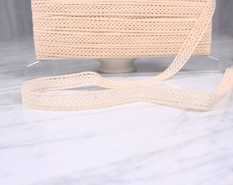 5 m of lace, 16mm, in-between, cotton, natural, (5117)