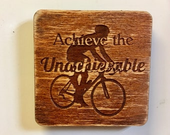 Laser engraved quote magnet
