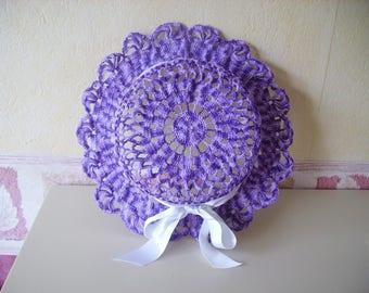 Purple crocheted Hat