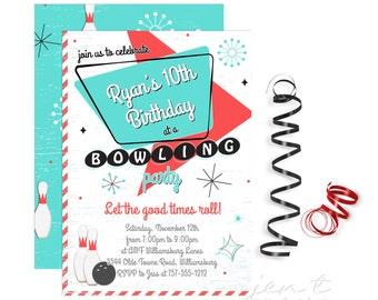Bowling Invitation | Bowling Birthday | Bowling Party | Bowling | Bowling Invite | Bowling Party Invite | Birthday Invitation