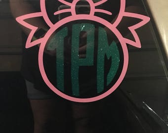 Bow Initial Decal