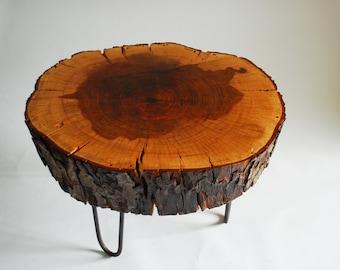 Pecan stump coffee table (El Sol)