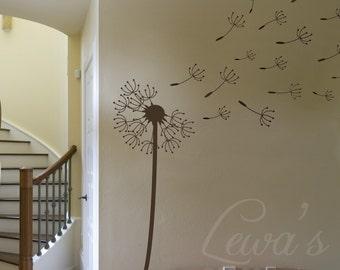 Dandelion Wall Decal, Flower Wall Decal, Modern Wall Decal, Vinyl Decal Dandelion, Living Room Decal, Bedroom Wall Decal, Nursery Wall Decal