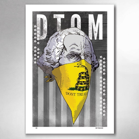 DTOM Dont Tread On Me Limited Edition 13x19 Art Print by Rob Ozborne