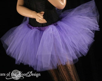 Light Purple tutu adult skirt dance extra poofy petticoat bridal roller durby rave --You Choose Size -- Sisters of the Moon