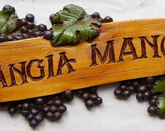 Italian Mangia Mangia, Eat Eat Kitchen Sign