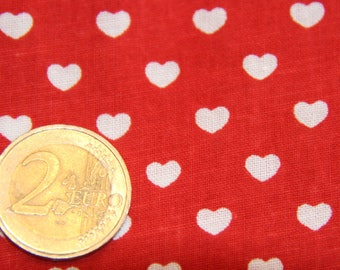 coupon fabric patchwork 50 X 50 cm / red heart
