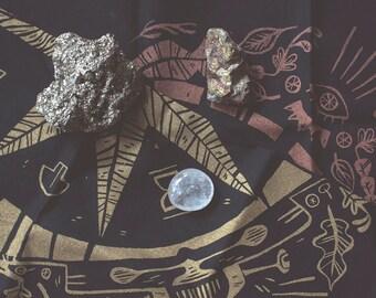 Professor Pam's Beetle Bone Casting Cloth - fortune telling mat