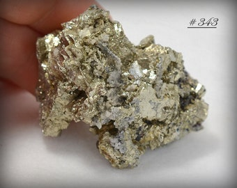 CLASSIC Golden Pyrite with Chalcopyrite and Barite, from the Bou Nahas Mine, Morocco