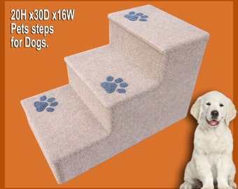 Pet steps, 20H x 30D x 16W, 3 steps for Dogs or Cats.