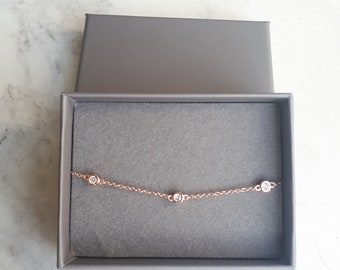 Rose Gold Bracelet / Best Friend Gift / Sister Gift / Rose Gold Jewellery