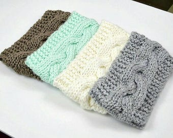 Knit Headband, Braided Head Band, Ear Warmer, Knit Crochet Headband for Women