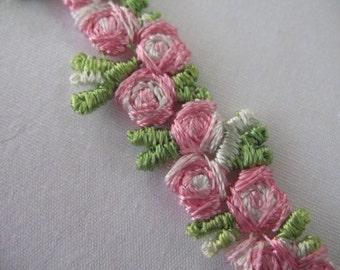VINTAGE  FLOWERS RIBBON -  Pink