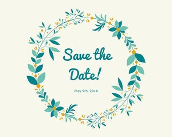 Simple Save the Date Postcard