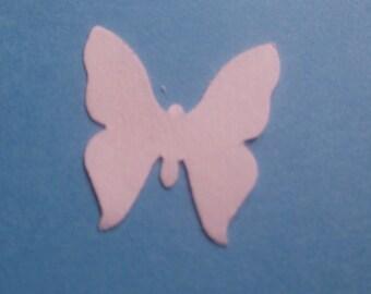 Papier cartonné blanc comte de poinçons-50 confettis papillon