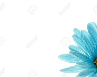 Blue Sunflower Cropped Cross Stitching Pattern