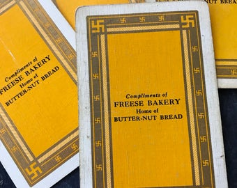 Antique Advertising Playing Cards Freese Bakery
