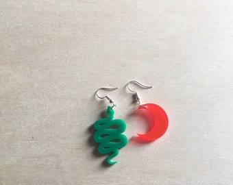 mismatch acrylic earrings