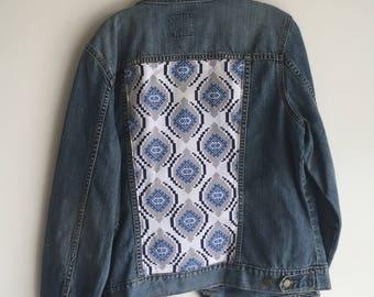 Upcycled Denim Jacket - Print