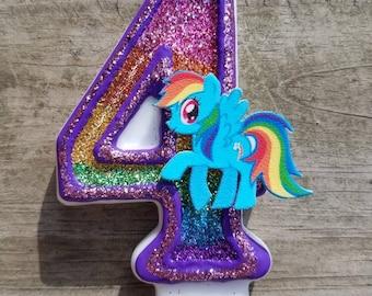 Pony birthday candle