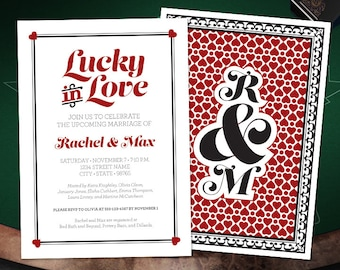 Lucky in Love Wedding Shower Invitation