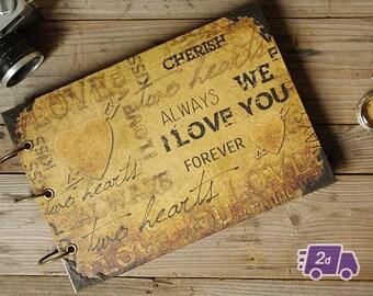 I Love You Hardcover Scrapbook Photo Album Wedding Guest Book Instant Photobooth Album