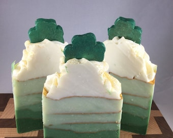 Green Clover and Aloe Handmade Cold Process Soap