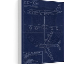 RC-135 Vintage Style Blueprint Canvas Gallery Wraps