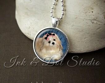 Pet Portrait Necklace, Custom Pet Necklace, Pet Portrait Pendant, Pet Photo Necklace, Dog Lover Gift, Cat Lover Gift, Pet Portraits