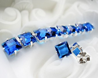 Capri Blue Vintage Glass Earrings