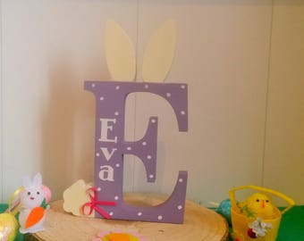 Personalised childrens easter bunny letters
