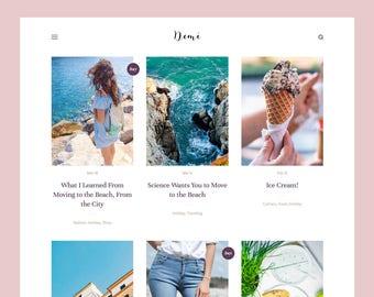 Demi: Grid-based Blogger theme, Responsive Blogger template, Blogger theme