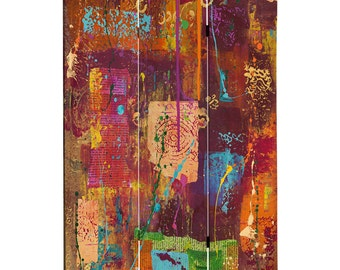 Canvas Room Divider Screen India Collage Partition